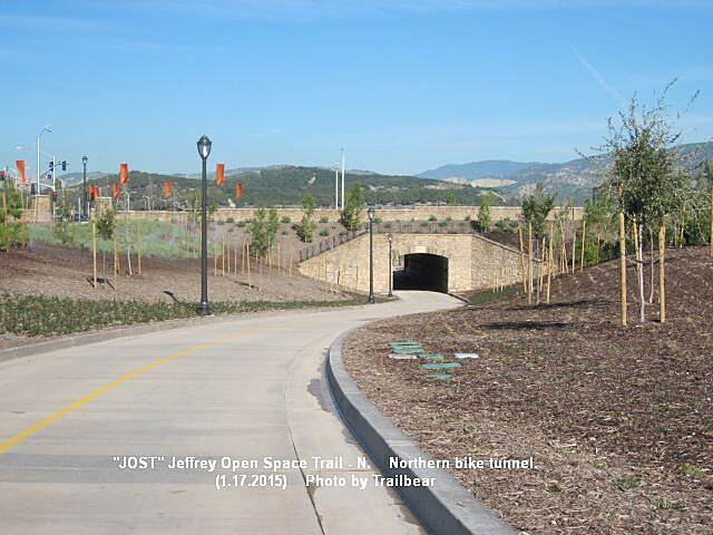 Jeffrey Open Space Trail JOST- NORTH - Northern tunnel A tunnel under Irvine Blvd.