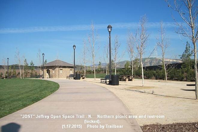 Jeffrey Open Space Trail JOST- NORTH - Restroom Northern picnic area and restrooms (locked).  You can get water here.