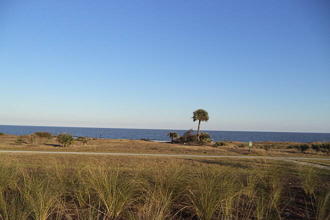 Jekyll Island Trail Ocean side By the ocean on a beautiful December day.