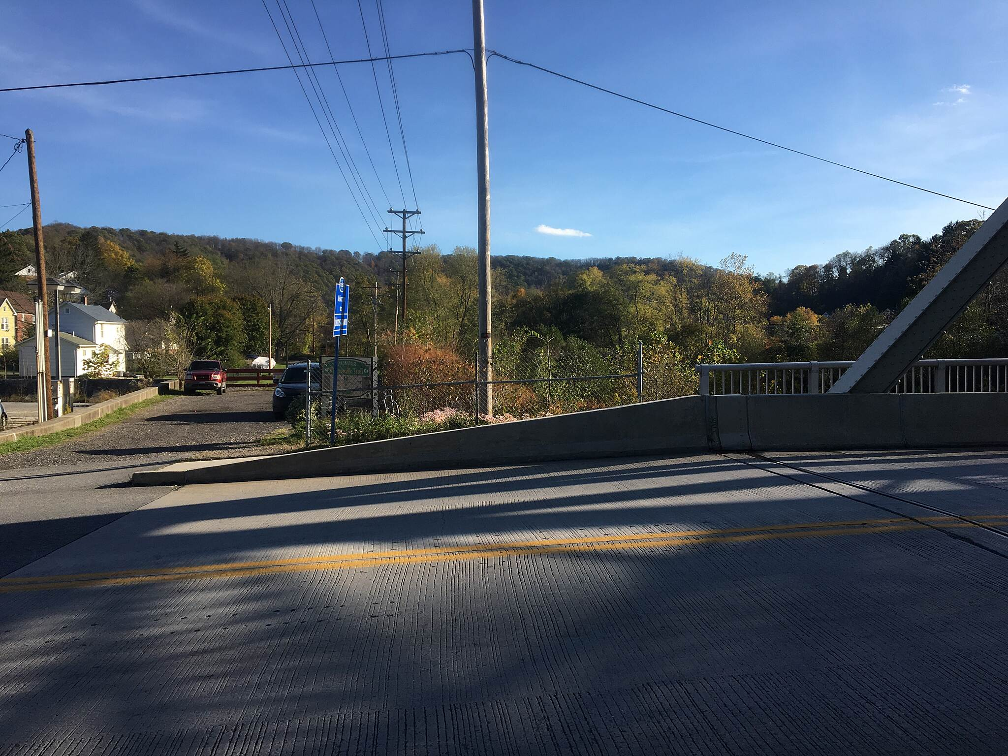 Jim Mayer Riverswalk Trailhead at Bridge Street Riverwalk trailhead at Bridge Street in Johnstown.  Crossing the bridge over the Stoney Creek River will put you in Ferndale.  28OCT16