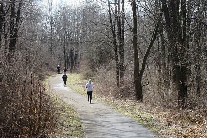 John C. Oliver Multi-Purpose Loop Trail Half Marathon - April, 2015 Annual half marathon, along the trail.  April, 2015.  Mercer County Trails association event.