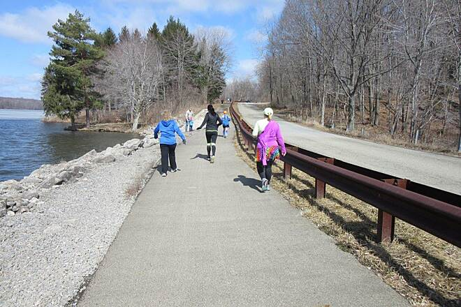 John C. Oliver Multi-Purpose Loop Trail Along the trail - April 2015 Annual Half Marathon, April 2015