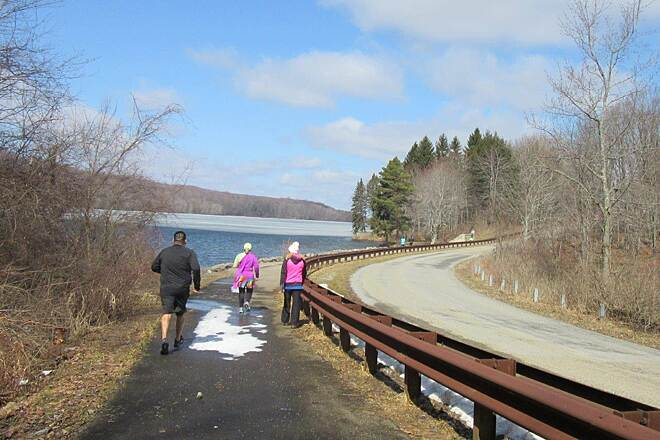 John C. Oliver Multi-Purpose Loop Trail Trail-April 2015 Annual half marathon along the trail - April 2015