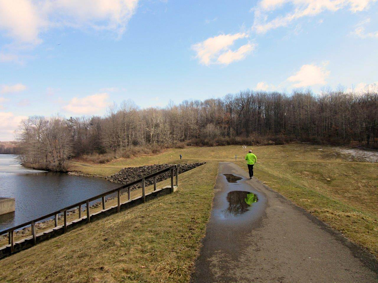 John C. Oliver Multi-Purpose Loop Trail Trail crosses the dam Trail crosses the dam-April 2015