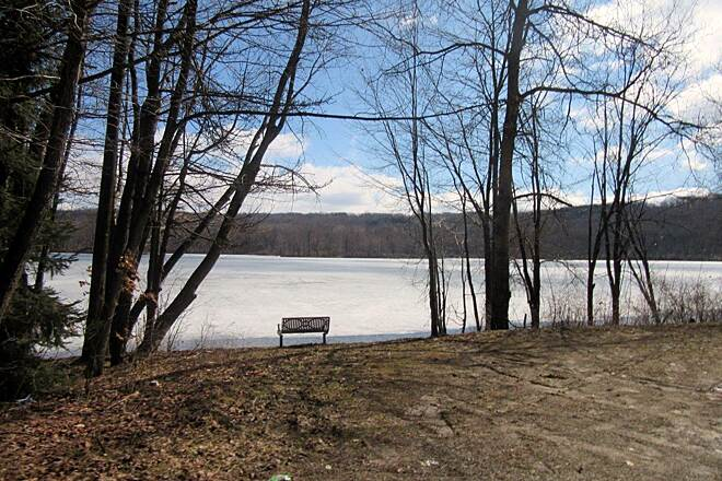 John C. Oliver Multi-Purpose Loop Trail Lake Wilhelm The trail goes around the beautiful lake.