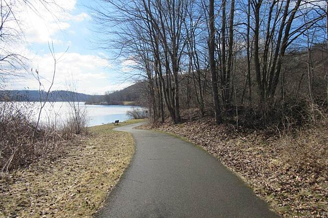 John C. Oliver Multi-Purpose Loop Trail Beautiful trail along the lake Trail runs past the lake - April 2015