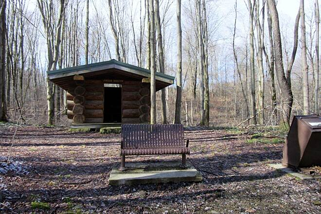 John C. Oliver Multi-Purpose Loop Trail Shelter One of the several rain shelters along the trail