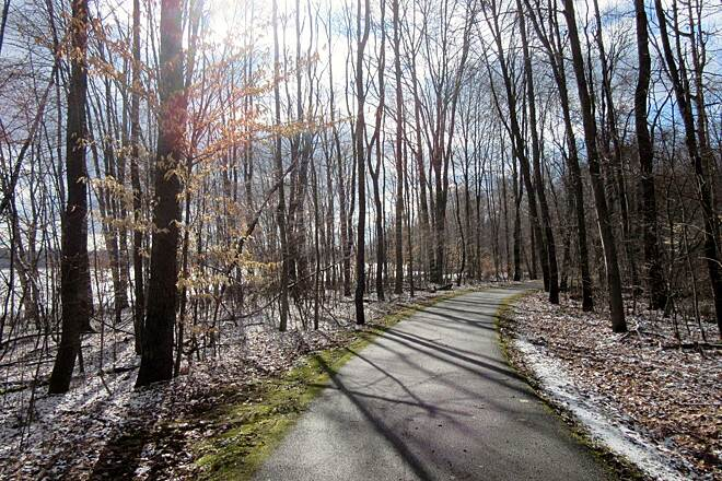John C. Oliver Multi-Purpose Loop Trail Trail - April 2015 April 2015, along the trail