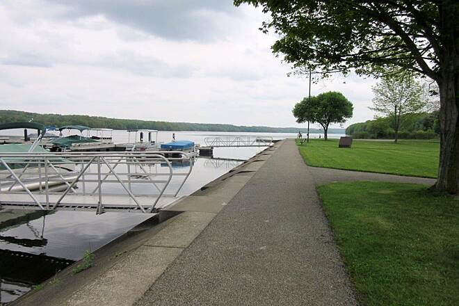 John C. Oliver Multi-Purpose Loop Trail Marina You can ride your bike along the lake near the marina