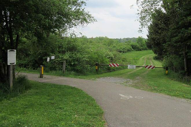 John C. Oliver Multi-Purpose Loop Trail Trail Parking - Upper lot One of the parking lots for the trail