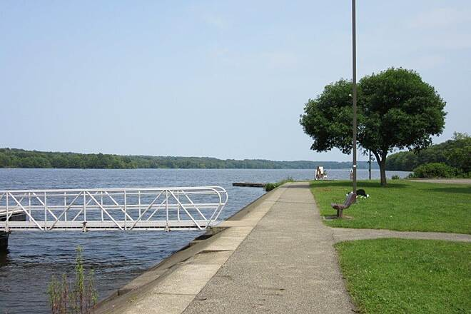 John C. Oliver Multi-Purpose Loop Trail Marina Lake Wilhelm Marina, trail goes past it, July 2015