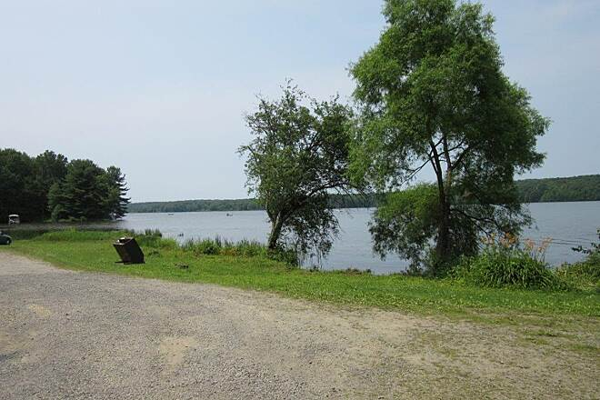 John C. Oliver Multi-Purpose Loop Trail Parking Trail Parking, Lake Wilhelm, Goddard State Park-July 2015