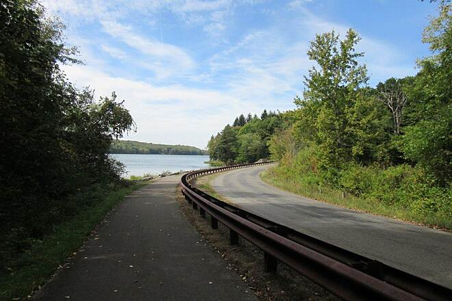 John C. Oliver Multi-Purpose Loop Trail Trail View of the lake, along the trail