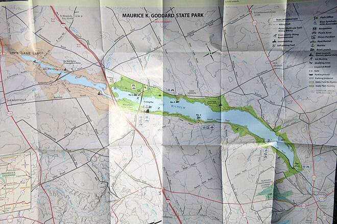 John C. Oliver Multi-Purpose Loop Trail Map Park map and information guide.  Available at the park.
