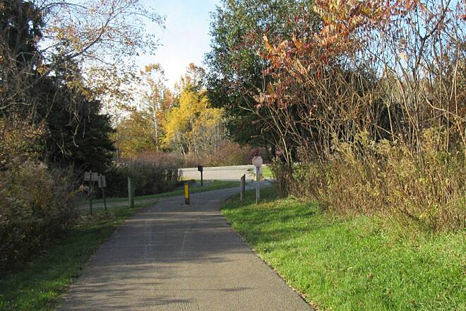 John C. Oliver Multi-Purpose Loop Trail Trail. This is near one of the parking lots.