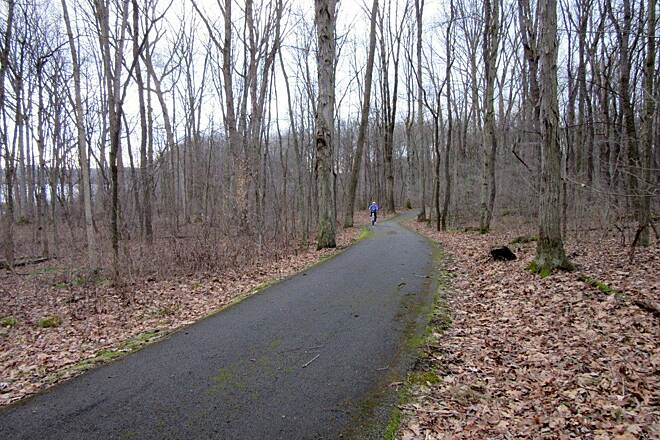 John C. Oliver Multi-Purpose Loop Trail Along the trail Riding along the trail