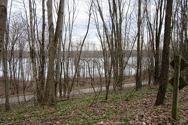 John C. Oliver Multi-Purpose Loop Trail View of the lake View of the lake from high above on the trail