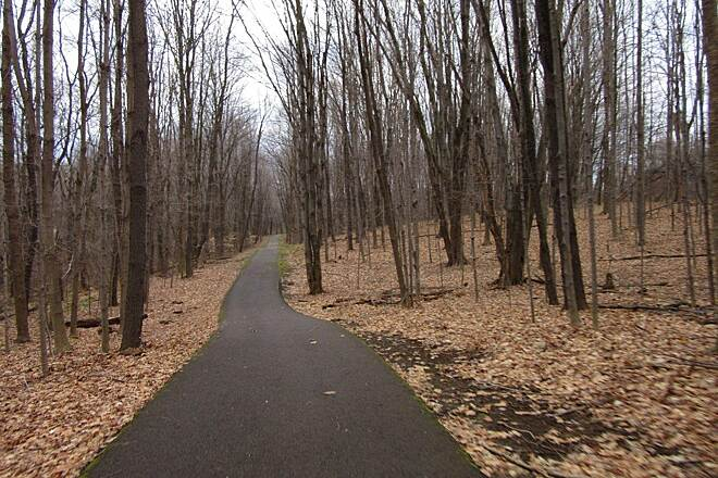 John C. Oliver Multi-Purpose Loop Trail Trail Trail thru the wooded area