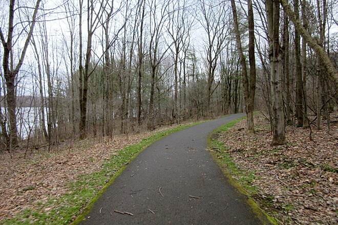 John C. Oliver Multi-Purpose Loop Trail Clear Trail Nice day for a winter's ride along the trail!