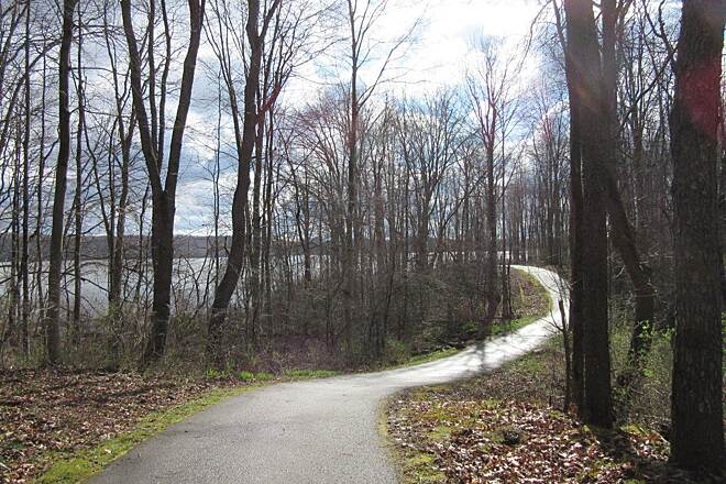 John C. Oliver Multi-Purpose Loop Trail Pretty Trail Nice view of the Lake (Lake Wilhelm) from the trail.  It's a better view when the leaves are down.