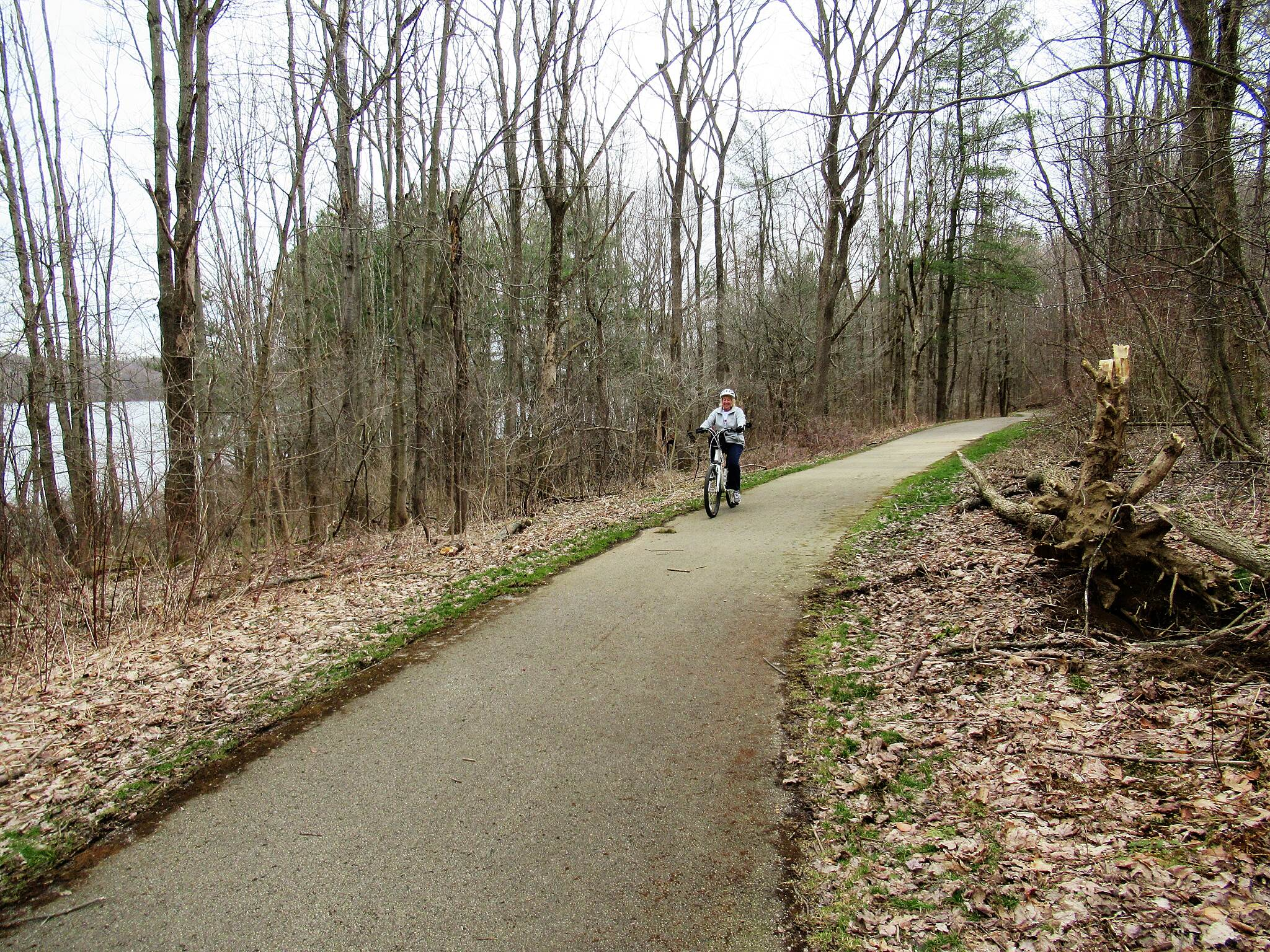 John C. Oliver Multi-Purpose Loop Trail Biking along the trail Enjoying a nice Spring ride on the trail