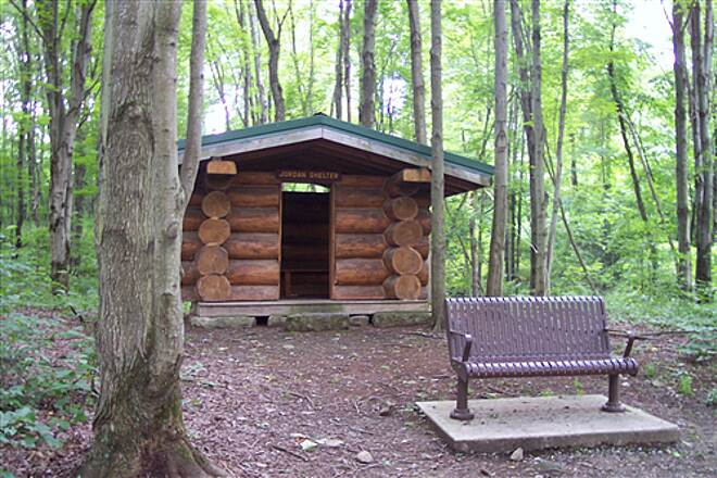 John C. Oliver Multi-Purpose Loop Trail The Jordan Shelter On The Bike / Ski Trail