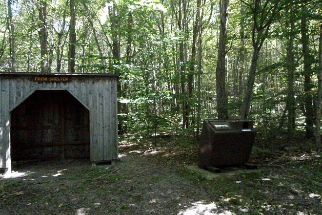 John C. Oliver Multi-Purpose Loop Trail Shelter one of the several shelters along the trail