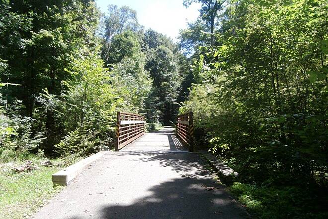 John C. Oliver Multi-Purpose Loop Trail Trail one of the several little bridges along the trail
