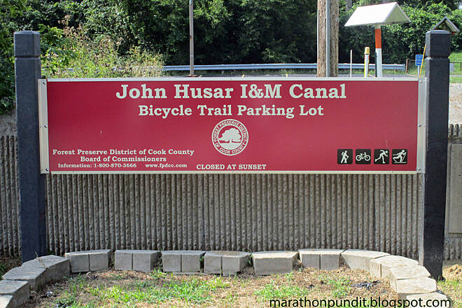 John Husar I&M Canal Trail John Husar Trail Sign at the trailhead of the John Husar I&M Bicycle Trail in Willow Springs, Illinois. Husar was a longtime outdoors writer for the Chicago Tribune.