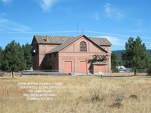 John Wayne Pioneer Trail JWPT - S. CLE ELUM DEPOT A view of the sub station