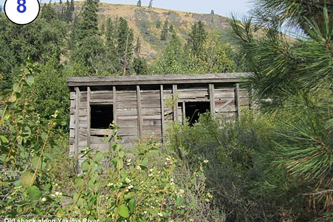 John Wayne Pioneer Trail South Cle Elum Depot to Tunnel 47 8-Old shed along Yakima River