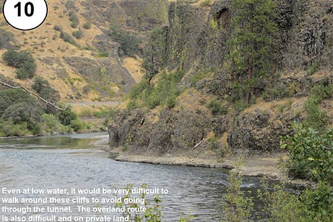 John Wayne Pioneer Trail South Cle Elum Depot to Tunnel 47 10-Steep cliffs blocking attempted bypass of tunnel