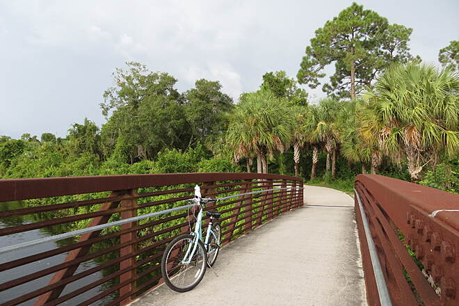 John Yarbrough Linear Park Trail John Yarbrough Linear Park Stop and take in the views at several crossings over the Ten Mile Canal.