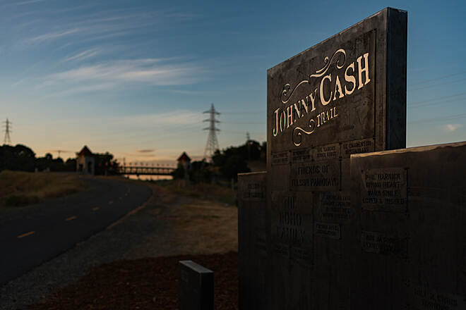 Johnny Cash - Folsom Prison Blues Trail Johnny Cash Trail  The donor wall along the Johnny Cash Trail in Folsom, CA