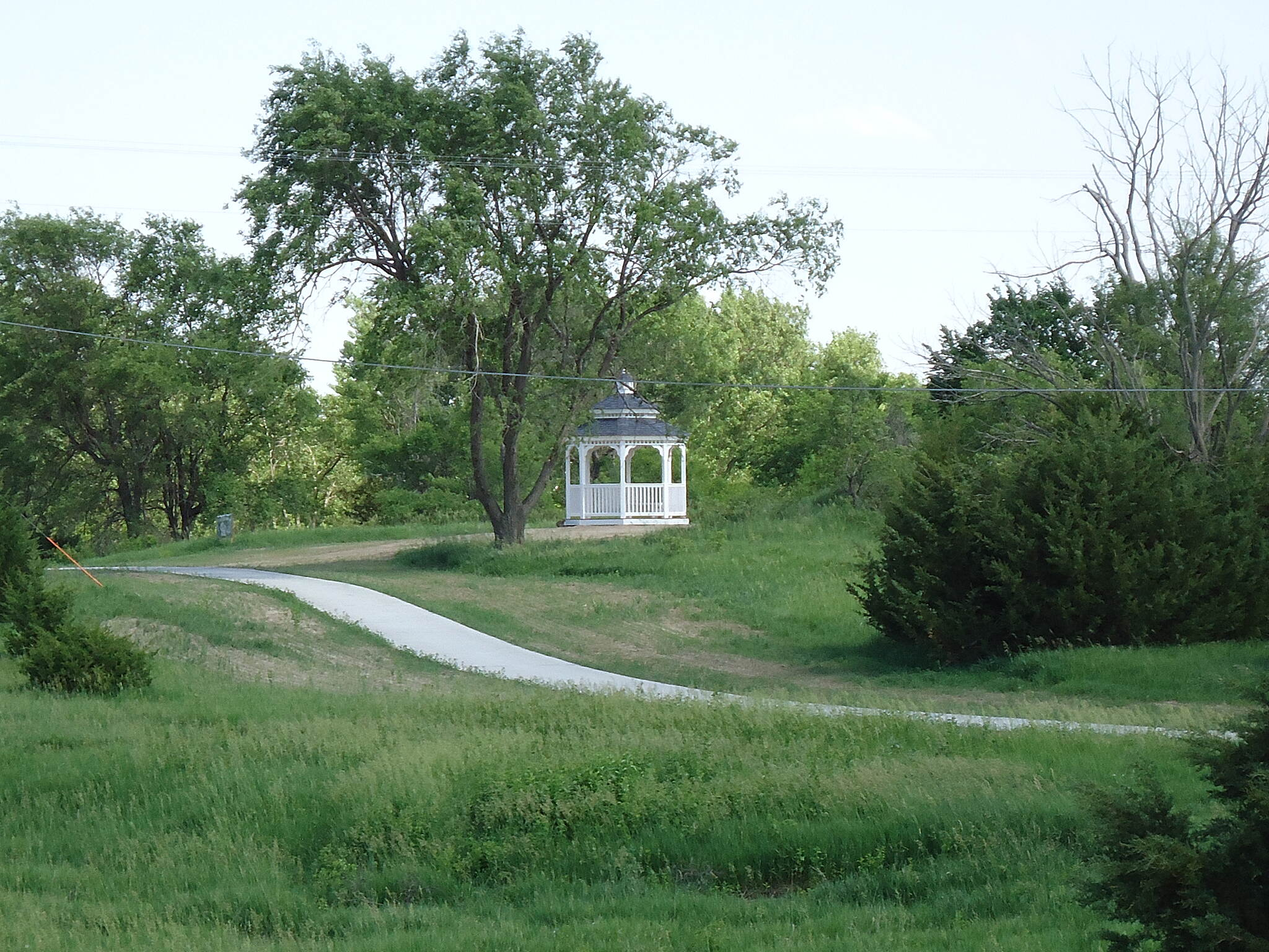 Johnson Lake Hike and Bike Trail Gazebo Near the south end of the Paul Matson Trail there is a gazebo that provides a great spot to rest and enjoy a panoramic view of Johnson Lake.