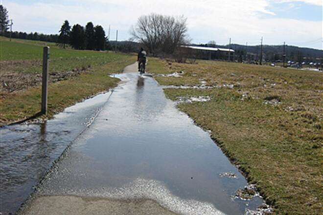 Jonathan Eshenour Memorial Trail Water Crossing Drainage problems near Cocoa Ave.