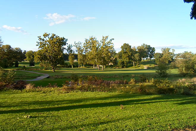 Jonathan Eshenour Memorial Trail Jonathan Eshenour Memorial Trail Panoramic view of the Spring Creek Golf Course.