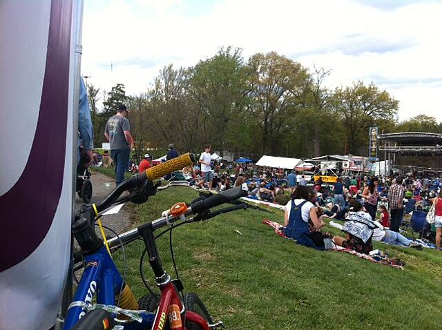 Jones Falls Trail Bikes and Bluegrass!! Plenty of Bike Parking when you ride the Jones Falls Trail to the Entrance of the Charm City Bluegrass & Folk Festival at the Rawlings Conservatory in Baltimore's historic Druid Hill Park.