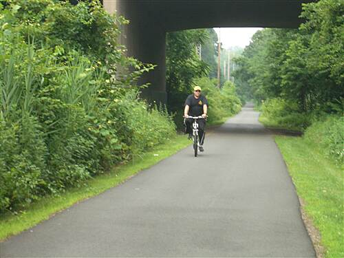 Joseph B. Clarke Rail Trail 1st timer on a rails to trails path enjoying a trail in orangeburg new york