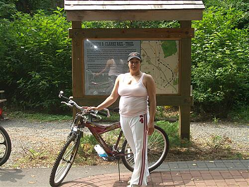 Joseph B. Clarke Rail Trail 1st timer rails to trails richy's lovely girl friend ready to enjoy the trail
