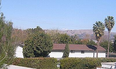 Juanita Cooke Greenbelt SNOW SAN GABRIEL MOUNTAINS ON HORIZON
