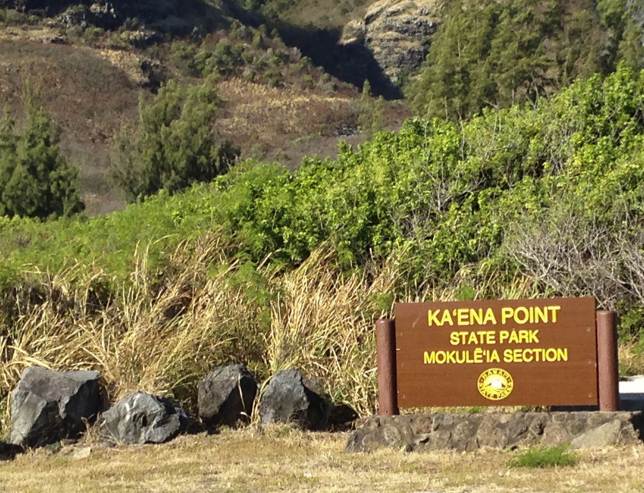 Ka'ena Point Trail  Kaena Point Hike Entrance Ka'ena Point Natural Area Reserve is on the very northwest tip of O'ahu ~ the end of the Waianae Mountain Range. More photos on my website, photosofaloha.com