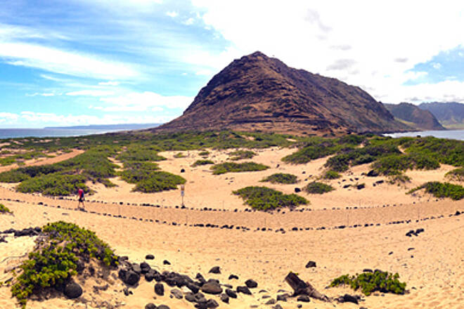 Ka'ena Point Trail  Panorama from Point