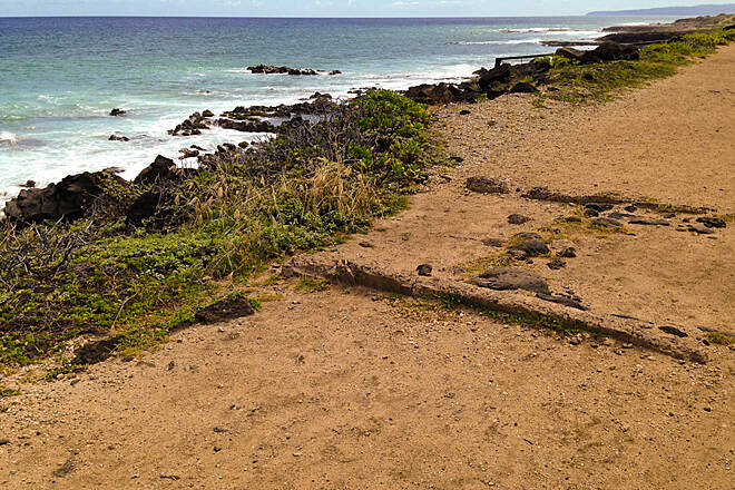 Ka'ena Point Trail  Probably rail remnant