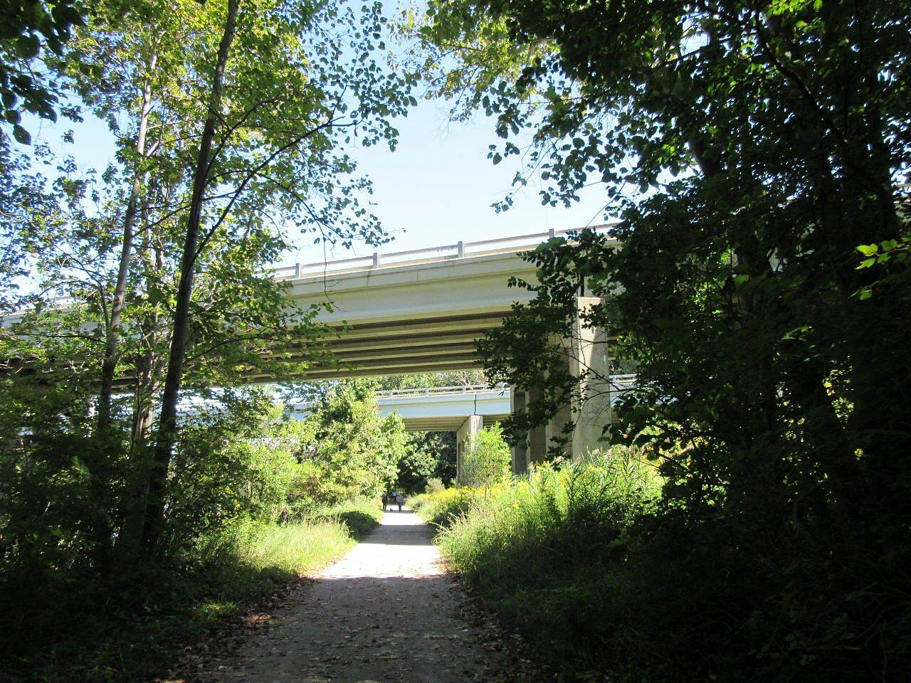 Kal-Haven Trail Sesquicentennial State Park Under the highway Trail goes under the highway, just outside of South Haven