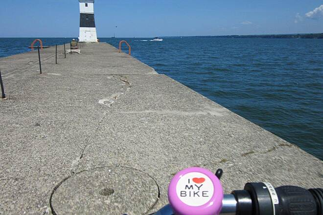 Karl Boyes Multi-purpose Trail Erie Light Erie Harbor North Pier Lighthouse near the Coast Guard Station