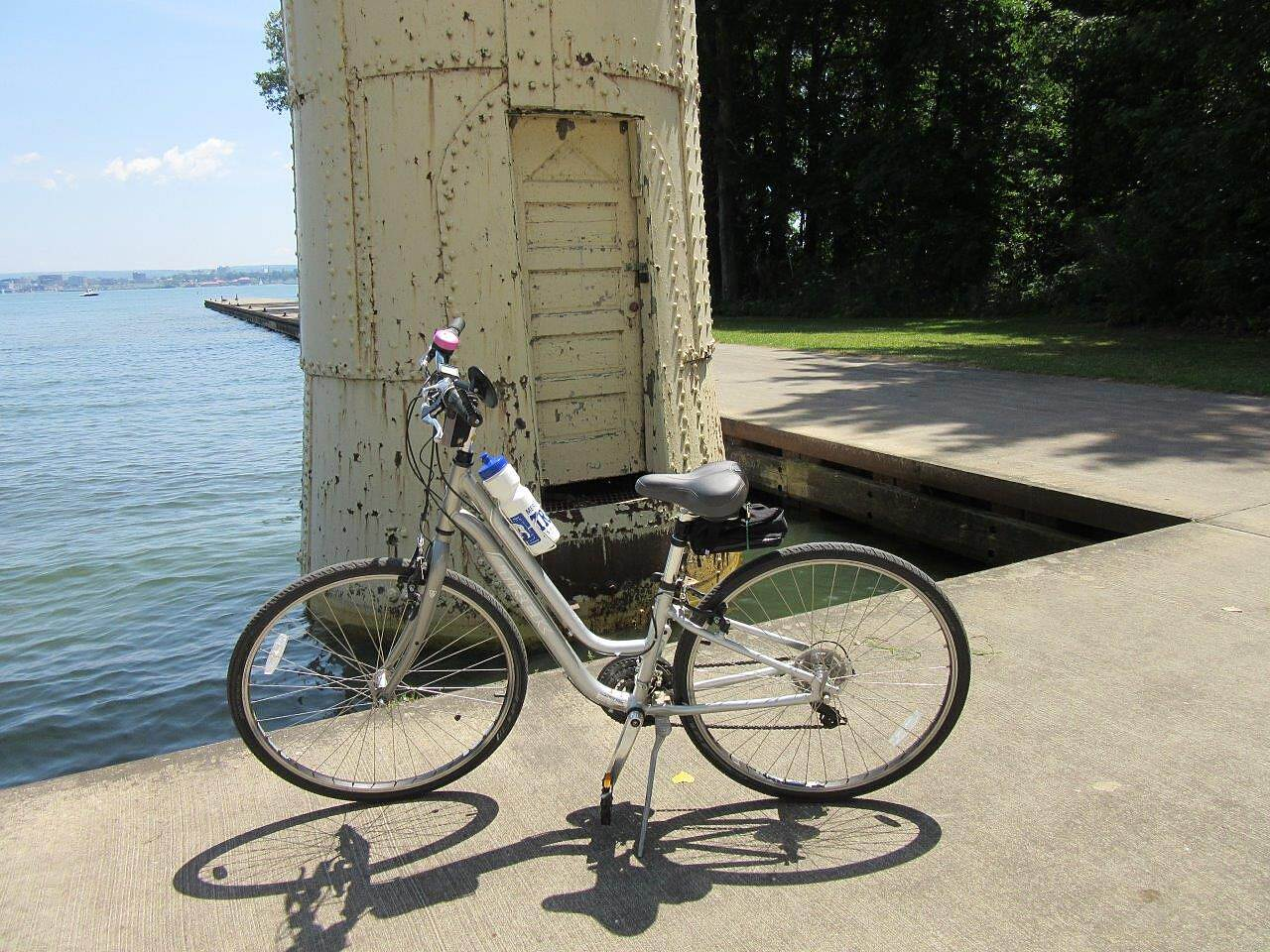 Karl Boyes Multi-purpose Trail Small Lighthouse This is near the 'waterworks' and it's an old lighthouse. Also near the lighthouse is the bike rental place.
