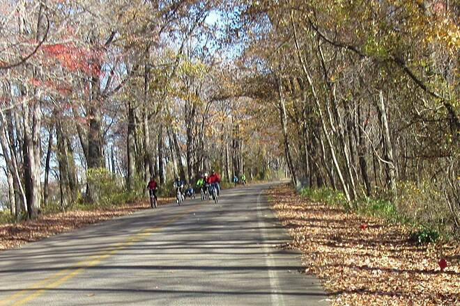 Karl Boyes Multi-purpose Trail Cyclists Cyclists enjoying a lovely fall day-November 2015