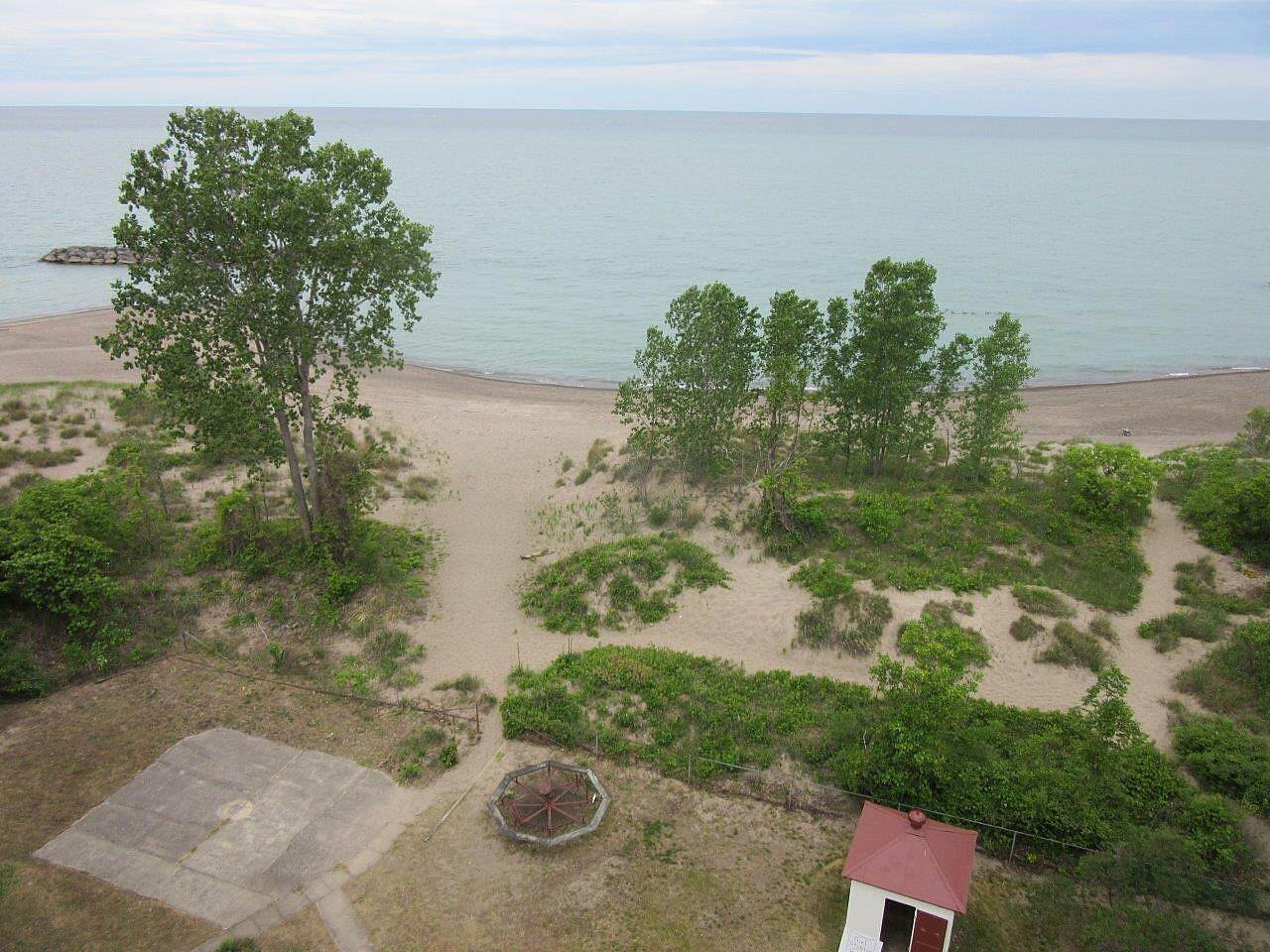 Karl Boyes Multi-purpose Trail Top of the lighthouse view Presque Isle Lighthouse view from the top.  Lake Erie, facing Canada.