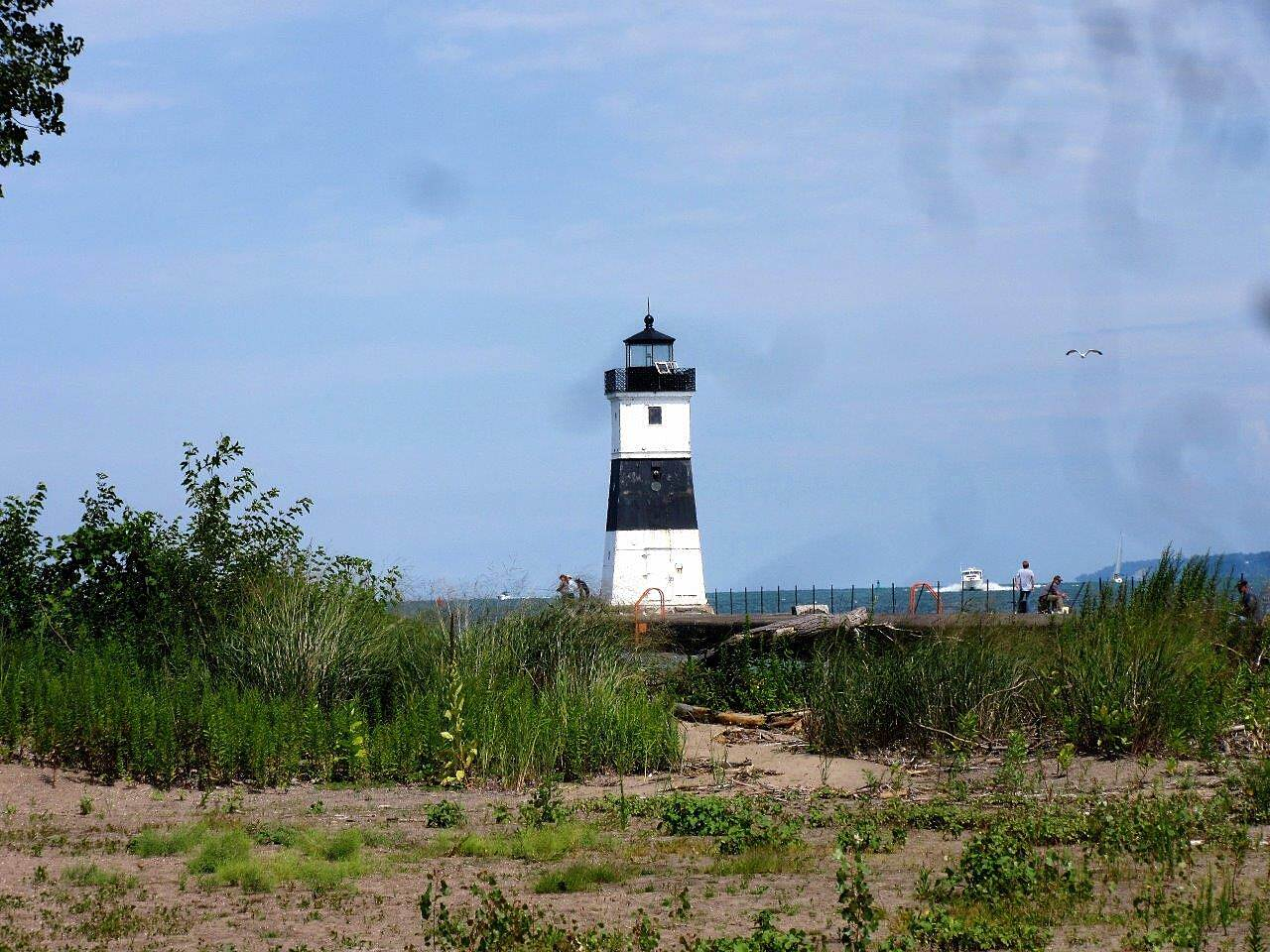 Karl Boyes Multi-purpose Trail Erie Pier Lighthouse Located at the Coast Guard Station in Presque Isle State Park.